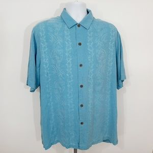 Tommy Bahama Men's Button Front Shirt Size L 100%